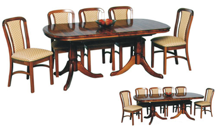 Davies Heritage Twin Pedestal Extension Dining Table