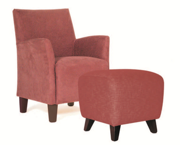 Kovacs Nero Chair with optional Ottoman Short leg