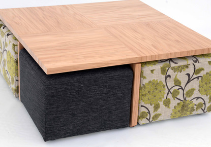 Kovacs Humpty coffee table and footstools