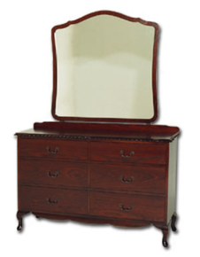 Davies Queen Anne 6 Drawer Duchess with Mirror