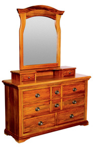 Sorenmobler River Crossings 8 Drawer Dresser with Mirror