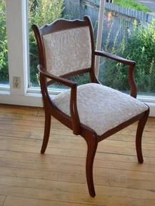 Duncan Phyfe Padded Back Dining Chair