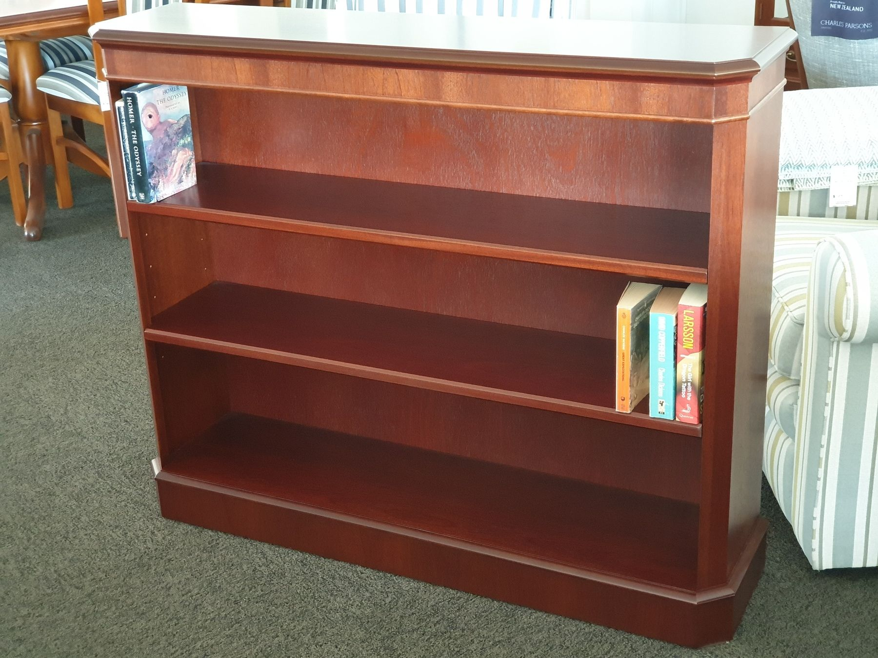 Fitzroy Mahogany Medium Bookshelf